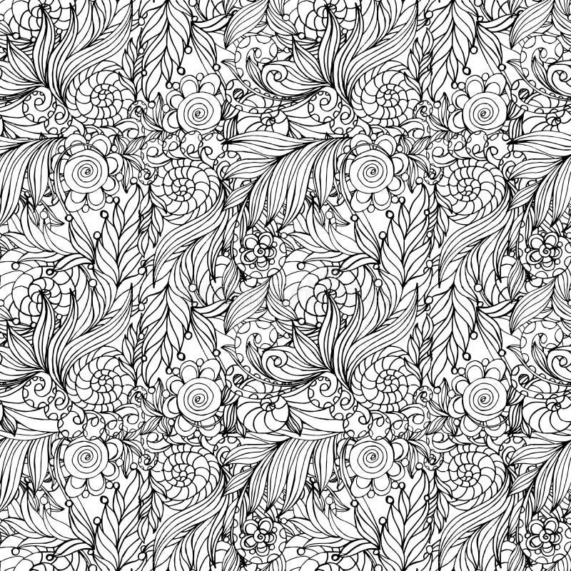 Het kleuren het ontwerp van de boekpagina met patroon royalty-vrije illustratie