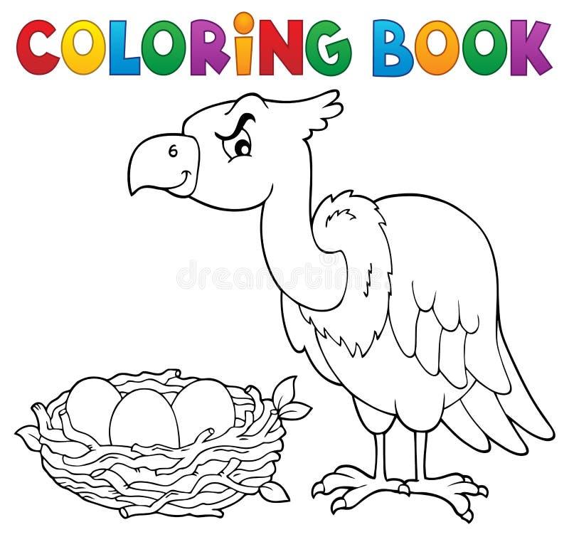 Het kleuren onderwerp 2 van de boekvogel stock illustratie