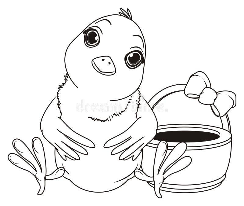 Het kleuren Pasen kuiken vector illustratie