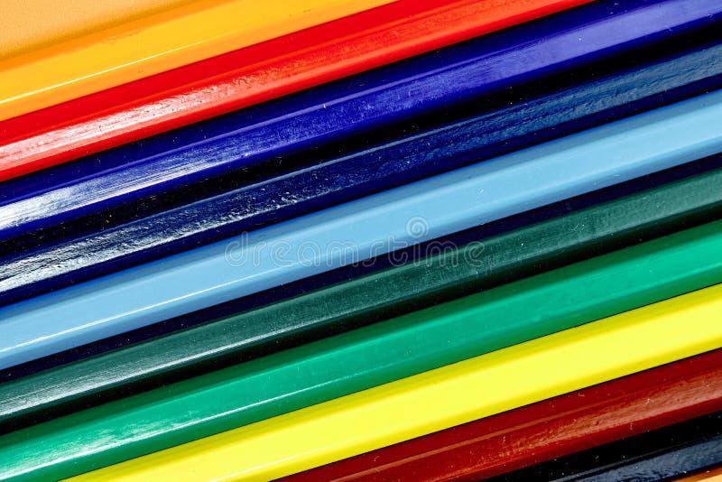 Het kleuren in Potloden stock foto