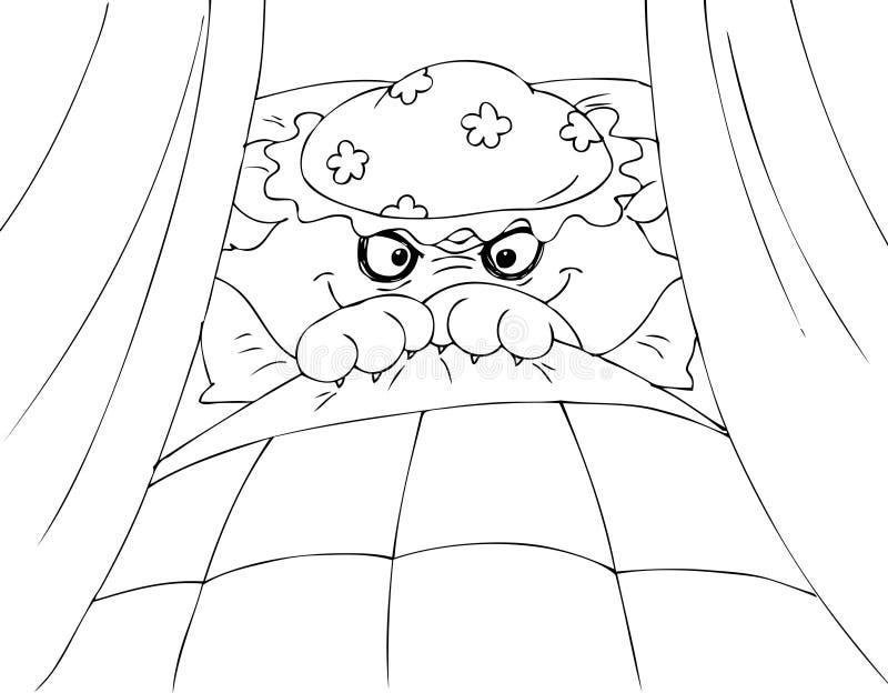 Het kleuren Rode het Berijden Kapwolf royalty-vrije illustratie