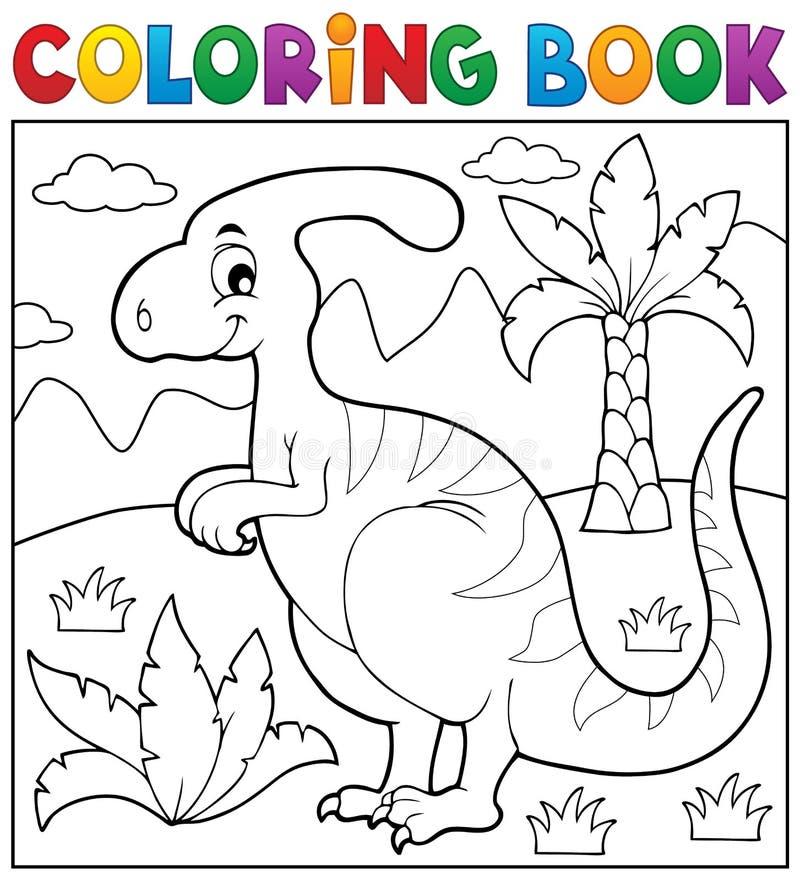 Het kleuren thema 4 van de boekdinosaurus royalty-vrije illustratie