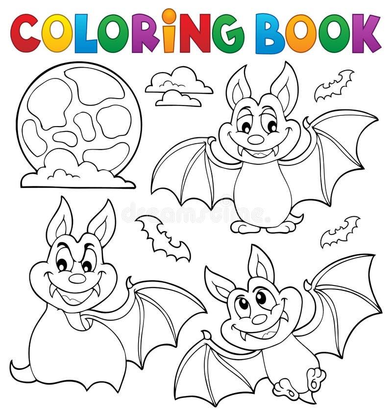 Het kleuren het themainzameling 1 van boekknuppels vector illustratie