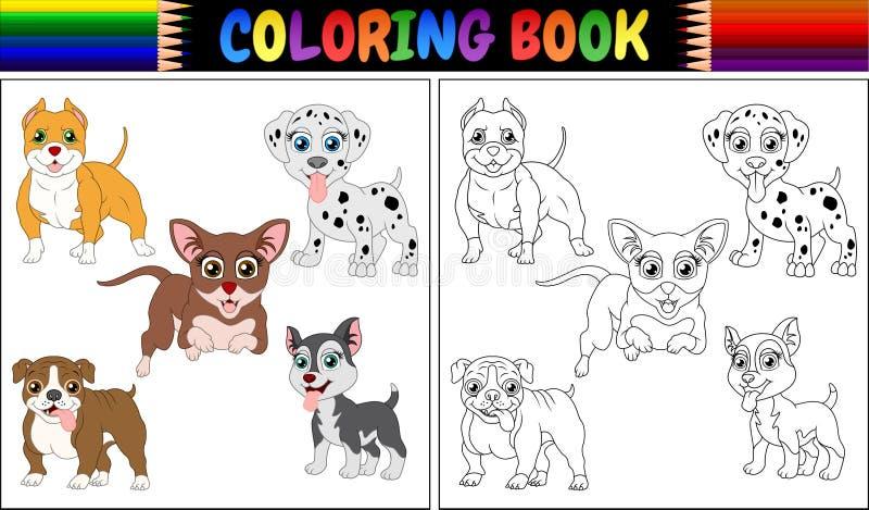 Het kleurende beeldverhaal van boekhuisdieren stock illustratie