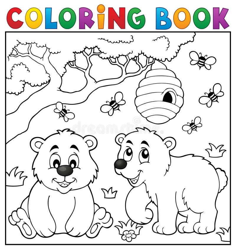 Het kleurende boek draagt thema 4 royalty-vrije illustratie
