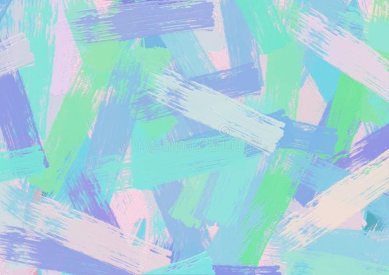 Het kleurrijke abstracte acryl schilderen royalty-vrije illustratie