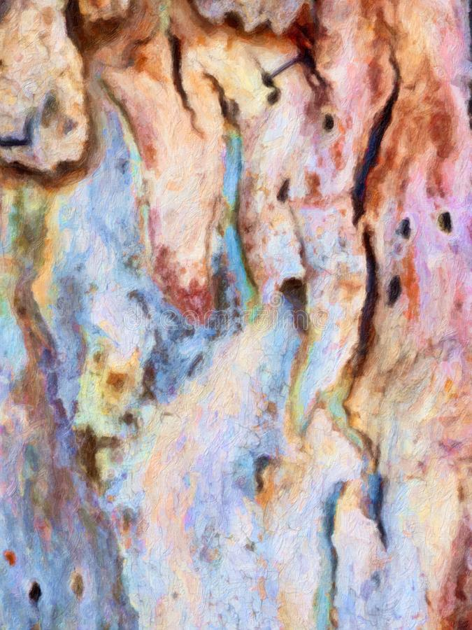Het kleurrijke Abstracte Beeld van de Olieverfschilderijstijl vector illustratie