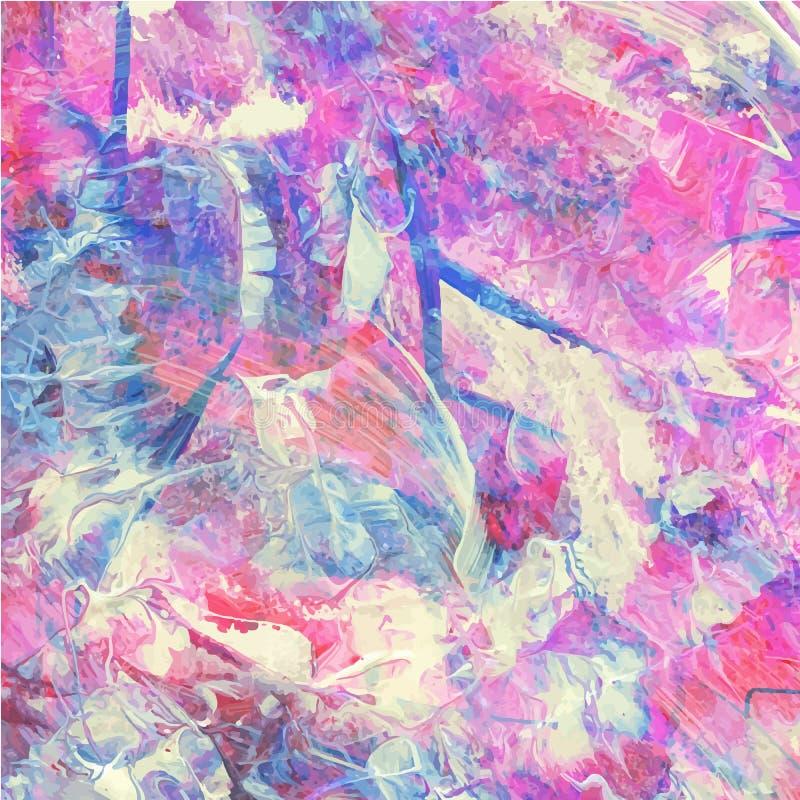 Het kleurrijke abstracte waterverf acryl schilderen royalty-vrije illustratie