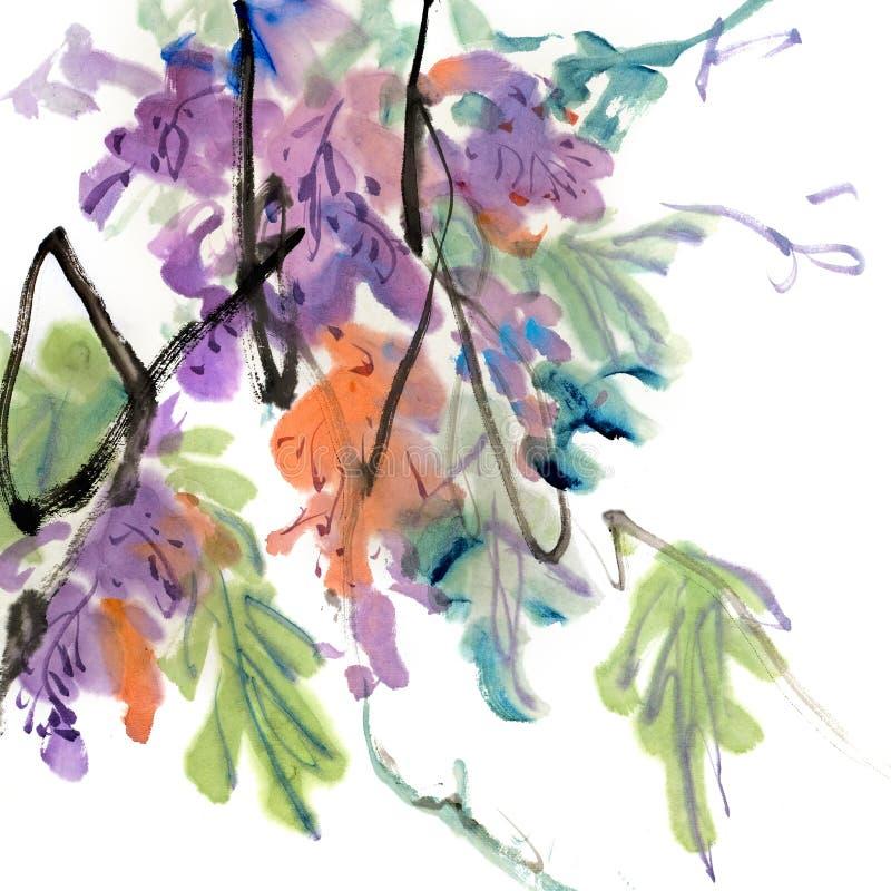 Het kleurrijke Chinese schilderen vector illustratie