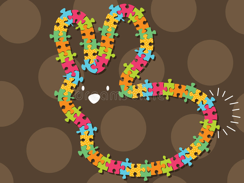 Het kleurrijke frame van het figuurzaagkonijntje stock illustratie