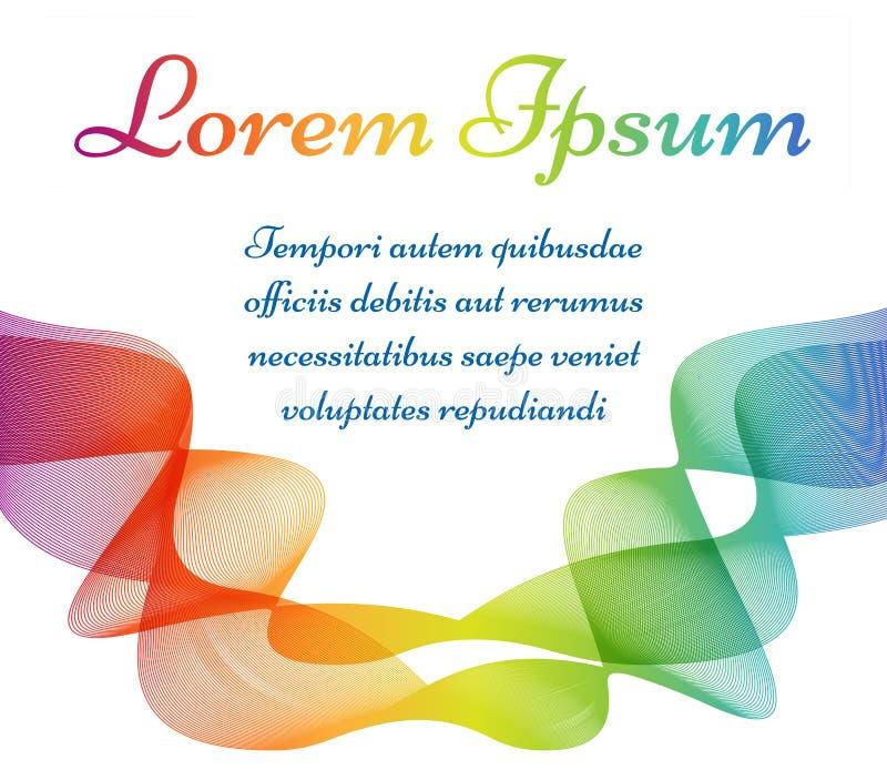 Het kleurrijke golvende malplaatje van de lijnenaffiche stock illustratie