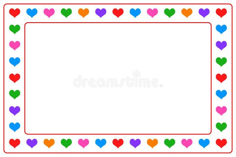 Het kleurrijke kader van de hartfoto op geïsoleerd royalty-vrije illustratie