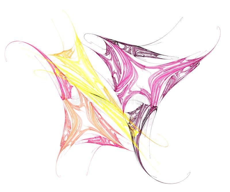 Het kleurrijke Kunstwerk van de Vlinder stock illustratie
