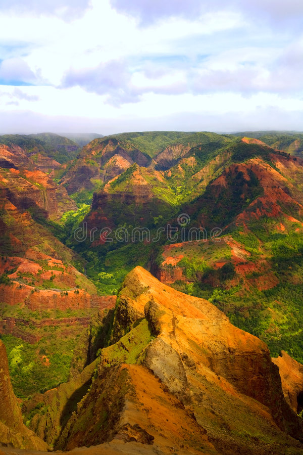 Het kleurrijke Landschap van de Berg stock foto