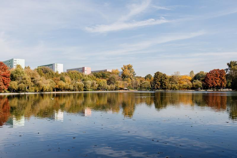 Het kleurrijke Landschap van de Herfst stock foto
