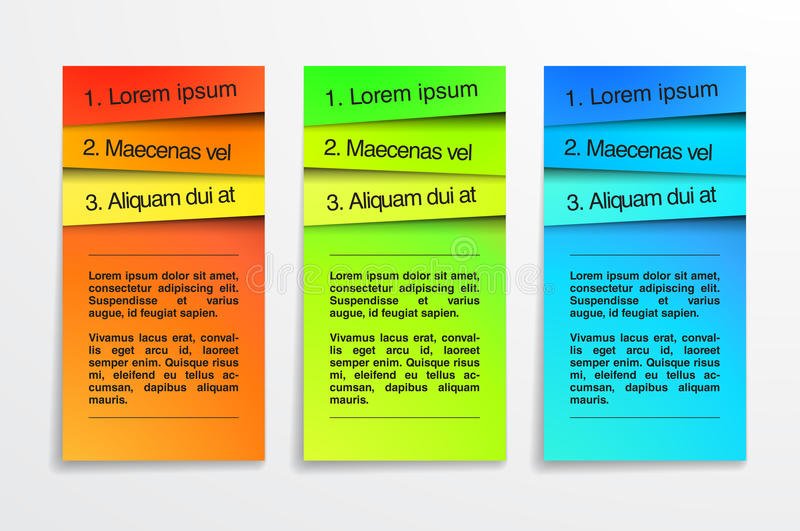 Het kleurrijke malplaatje van het bannersontwerp. Infographic. EPS royalty-vrije illustratie