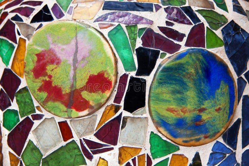 Het kleurrijke mozaïek van het glasfragment, muurdecoratie, abstracte kunst DE royalty-vrije stock afbeeldingen