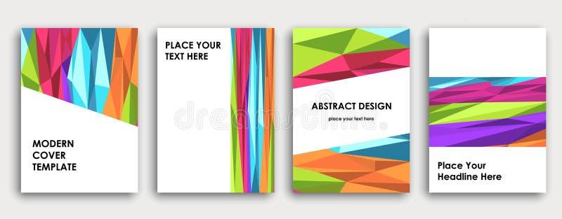 Het kleurrijke ontwerp van de boekdekking, abstracte achtergrond stock illustratie