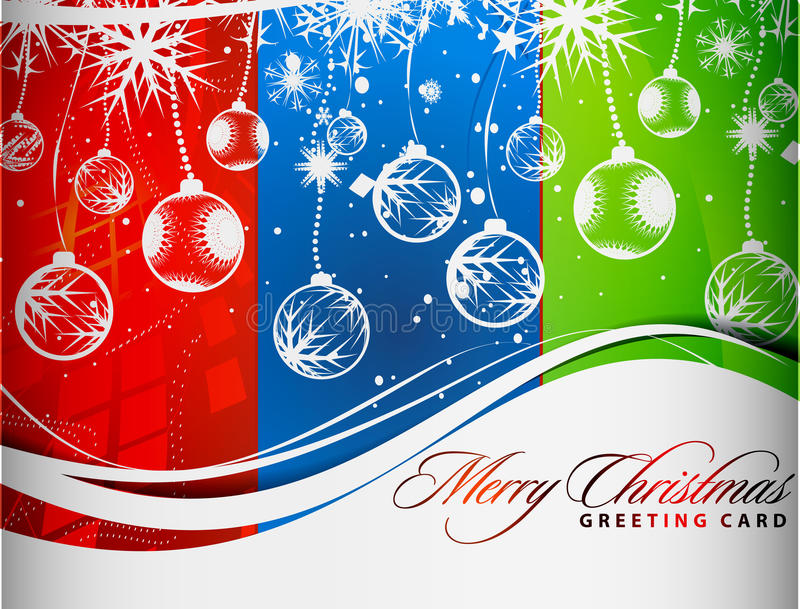 Het kleurrijke ontwerp van Kerstmis vector illustratie