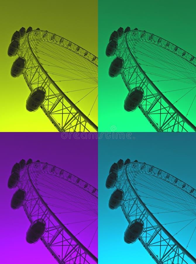 Het kleurrijke Oog van Londen royalty-vrije stock afbeeldingen