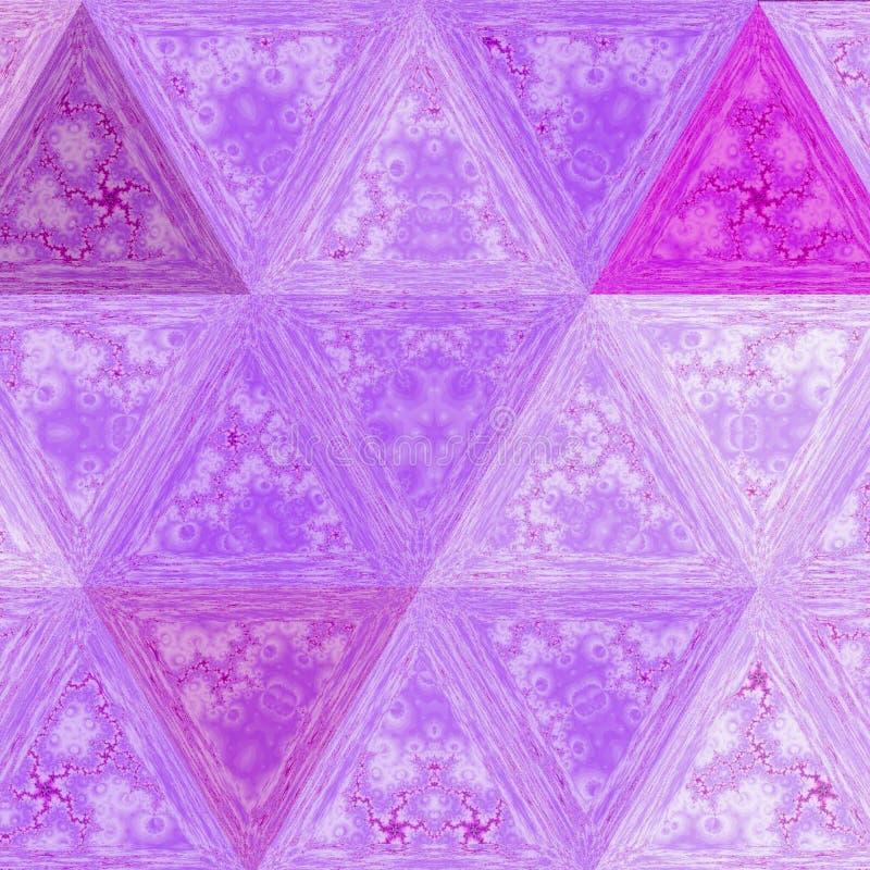 Het kleurrijke patroon van de lilasdriehoek van de Juweelelegantie royalty-vrije illustratie