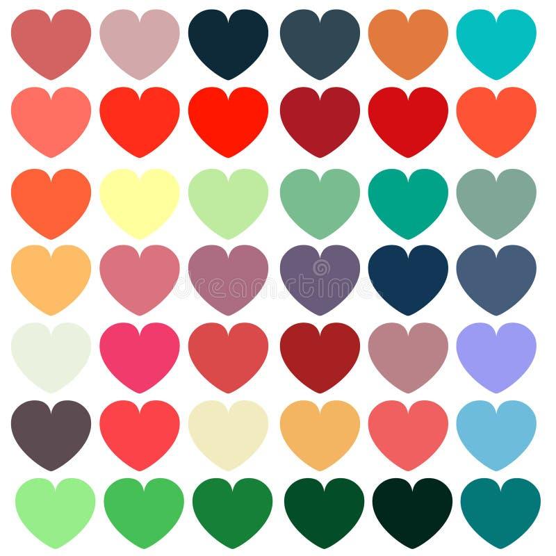 Het kleurrijke Patroon van Harten stock foto