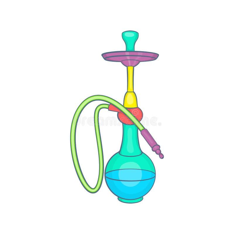 Het kleurrijke pictogram van de rookwaterpijp, beeldverhaalstijl vector illustratie