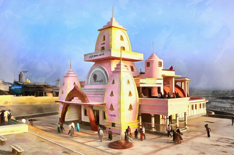 Het kleurrijke schilderen van Gandhi-gedenkteken royalty-vrije illustratie