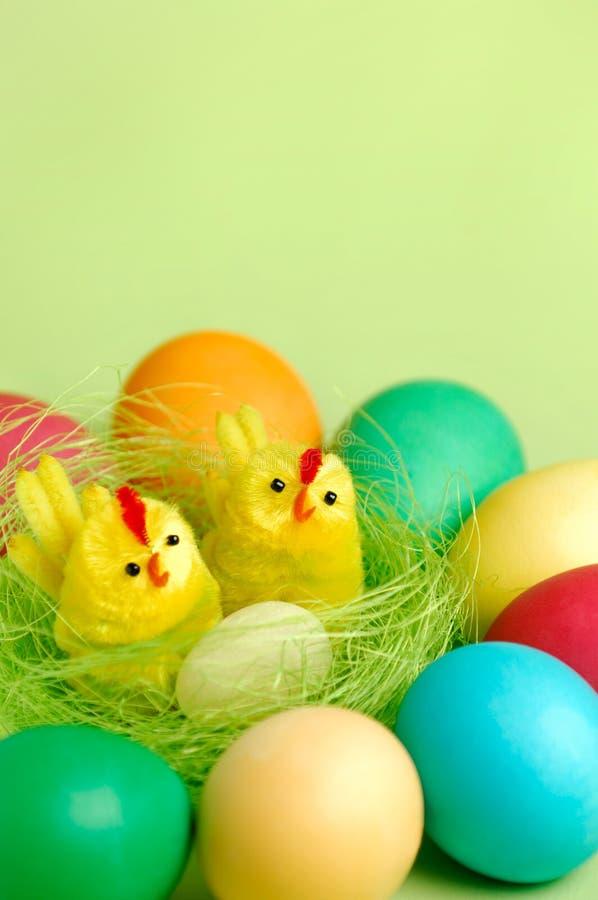 Het kleurrijke Stilleven van Pasen stock afbeeldingen