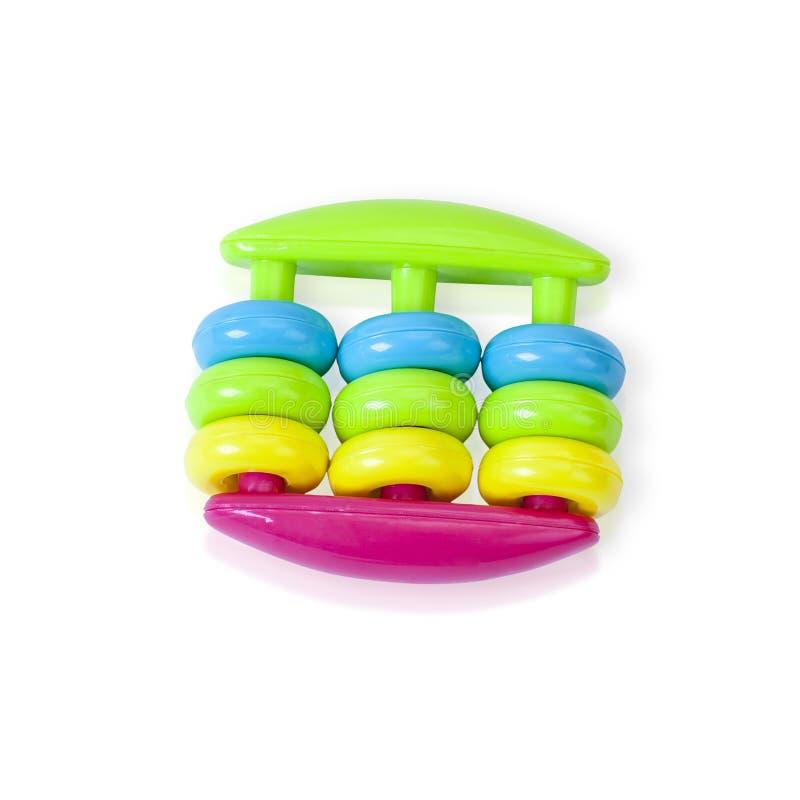 Het kleurrijke stuk speelgoed van de rammelaarbaby royalty-vrije stock afbeelding
