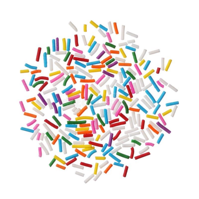 Het kleurrijke suikergoed bestrooit royalty-vrije stock afbeeldingen