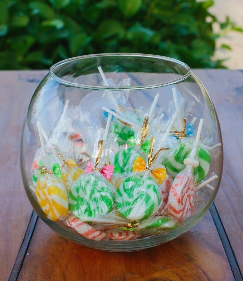 Het kleurrijke suikergoed van de Lolly royalty-vrije stock fotografie
