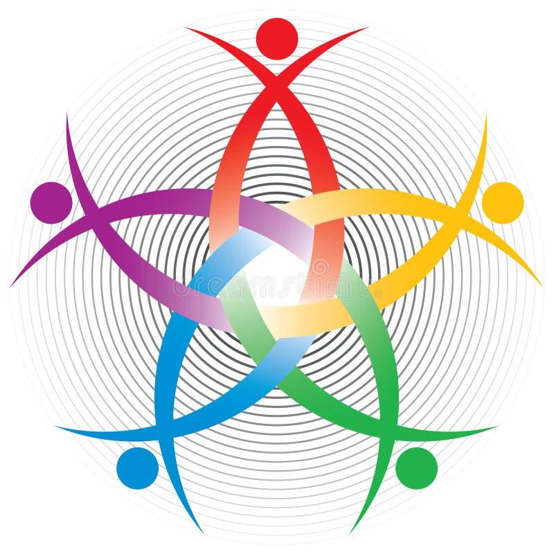Het kleurrijke symbool van u stock illustratie