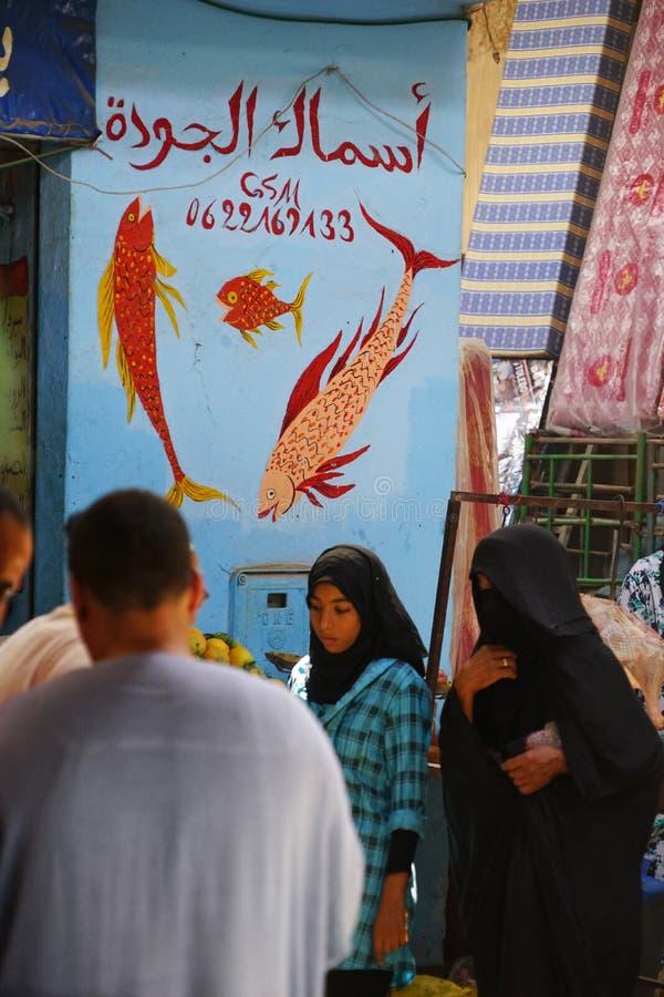 Het kleurrijke uithangbord van het vissen verkopende uithangbord royalty-vrije stock foto