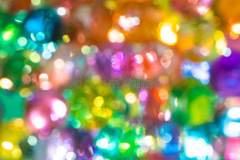 Het kleurrijke vage water parelt gebruik voor achtergrond stock foto