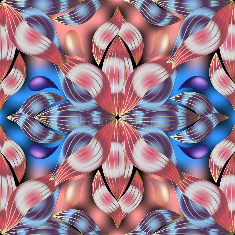Het kleurrijke vector naadloze patroon van Paisley royalty-vrije illustratie