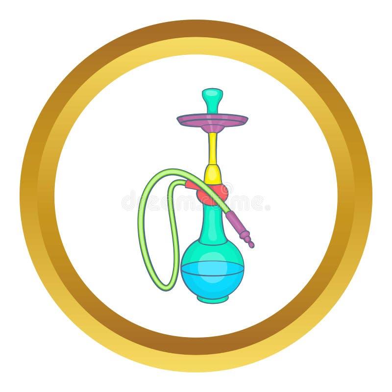 Het kleurrijke vectorpictogram van de rookwaterpijp royalty-vrije illustratie