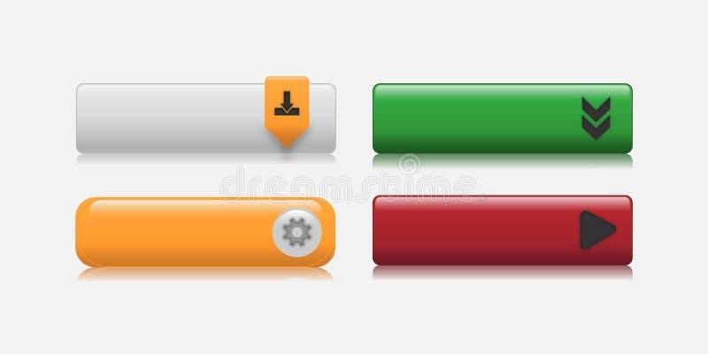 Het kleurrijke Web knoopt vectorillustratie dicht royalty-vrije illustratie