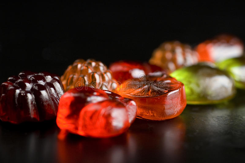 Het Kleverige Suikergoed van het fruit royalty-vrije stock foto