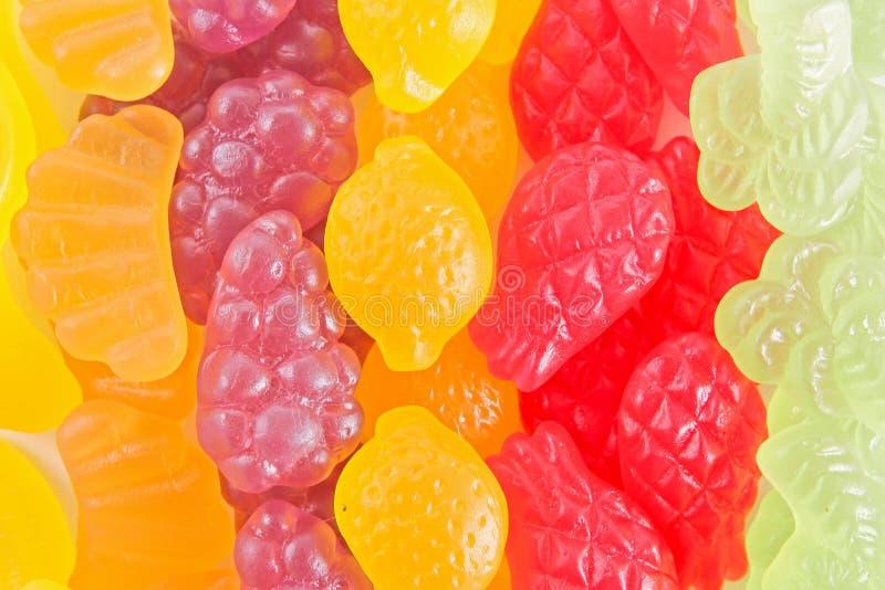 Het kleverige suikergoed van het fruit stock fotografie