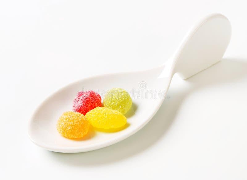 Het kleverige Suikergoed van het Fruit stock foto's