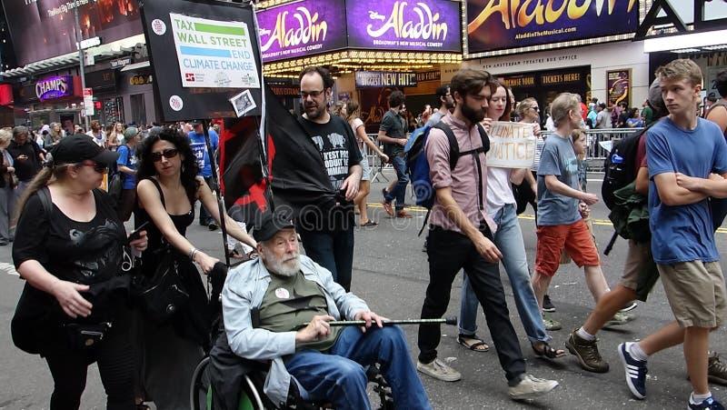 Het Klimaat 316 van mensen Maart stock foto's