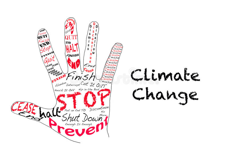Het klimaatverandering van het einde vector illustratie