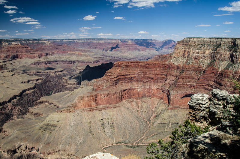 Het Kloof en de Blauwe Hemel, Grand Canyon royalty-vrije stock foto