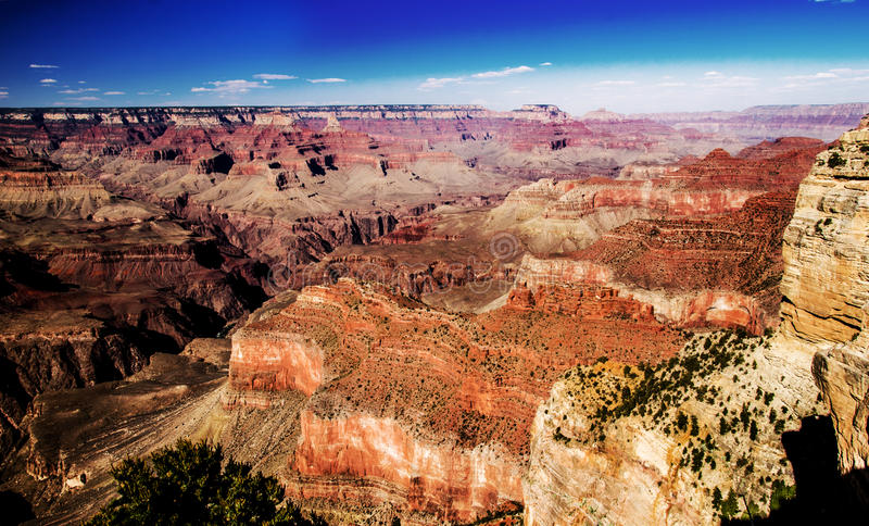 Het Kloof overziet Grand Canyon royalty-vrije stock foto's