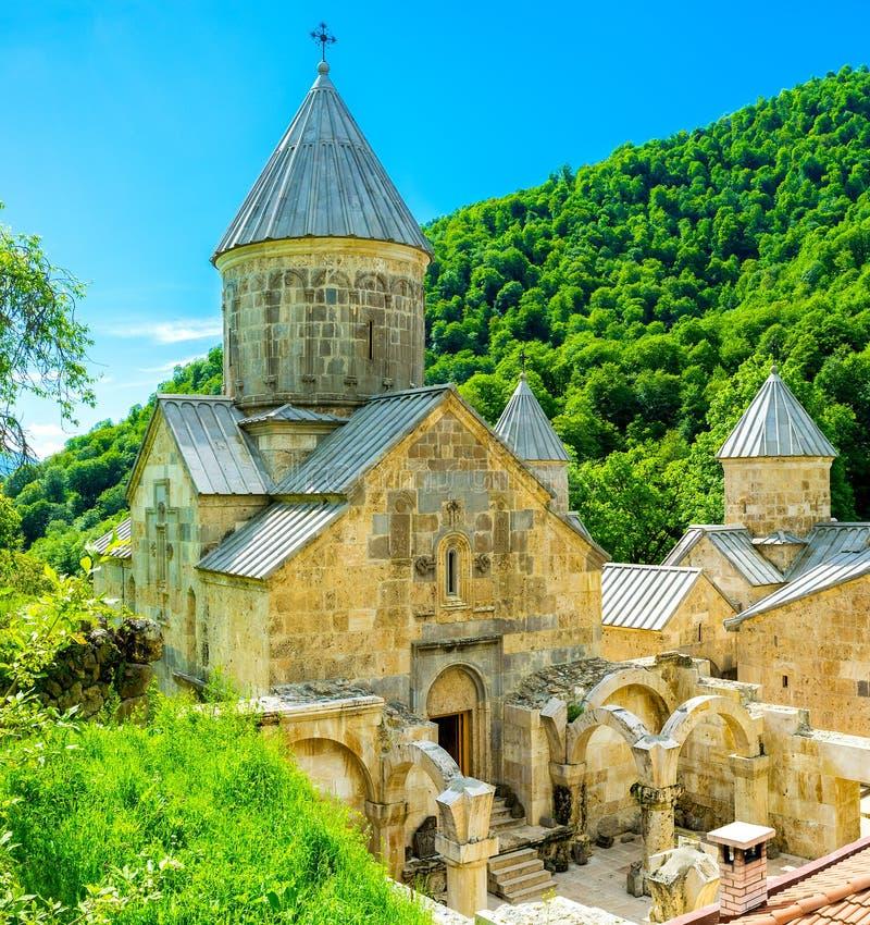 Het klooster in bergen royalty-vrije stock foto's