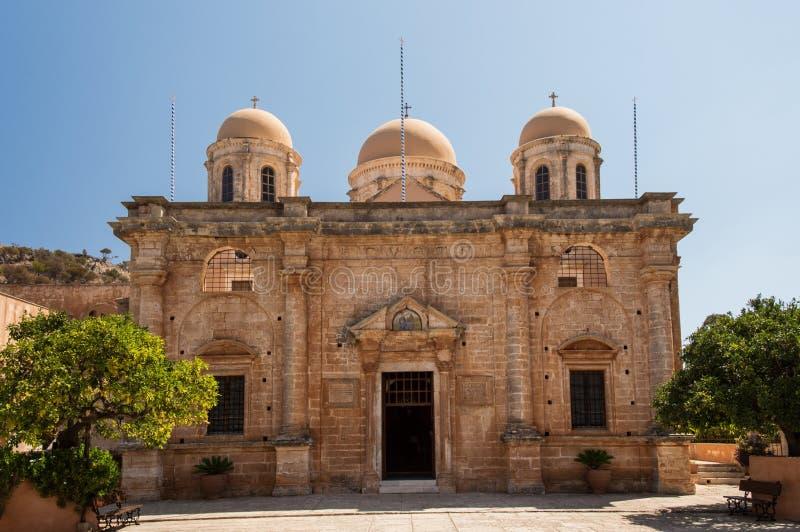 Het Klooster van Agia Triada in Kreta, Griekenland royalty-vrije stock foto