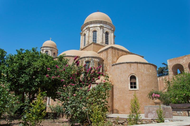 Het Klooster van Agia Triada in Kreta, Griekenland royalty-vrije stock fotografie