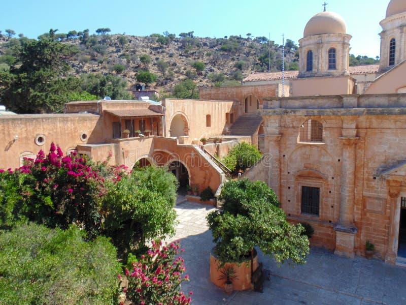 Het klooster van Agiatriada stock afbeeldingen
