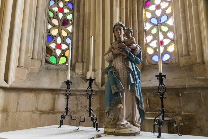 Het Klooster van Batalha, Portugal stock afbeeldingen